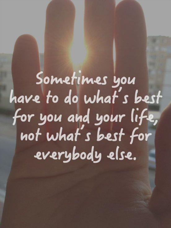 do what's best for you